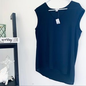 🖤 J. Crew Black Tank Blouse / Small